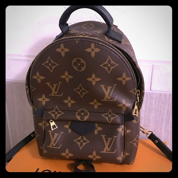 Authentic Louis Vuitton PALM SPRINGS Mini Backpack 22ba867b67552